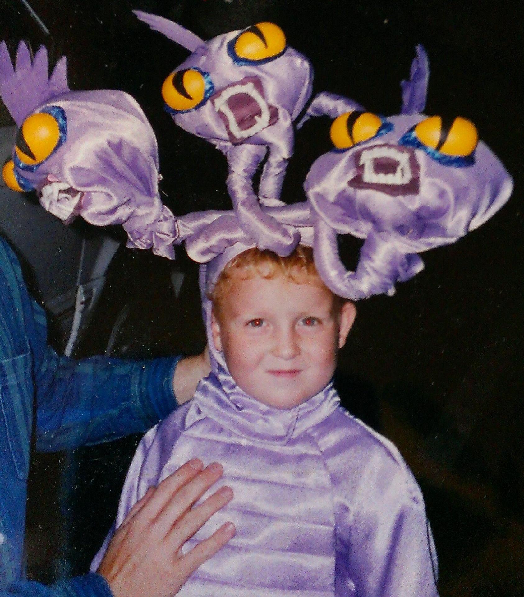 Hercules hydra costume my dad made me in 1998. Wish it