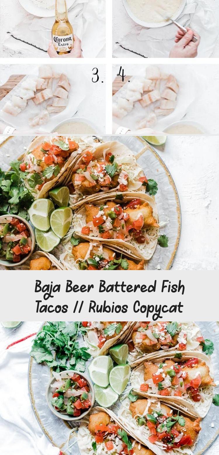 Baja Beer Battered Fish Tacos Rubios Copycat In 2020 Fish Tacos Beer Battered Fish Tacos Battered Fish Tacos