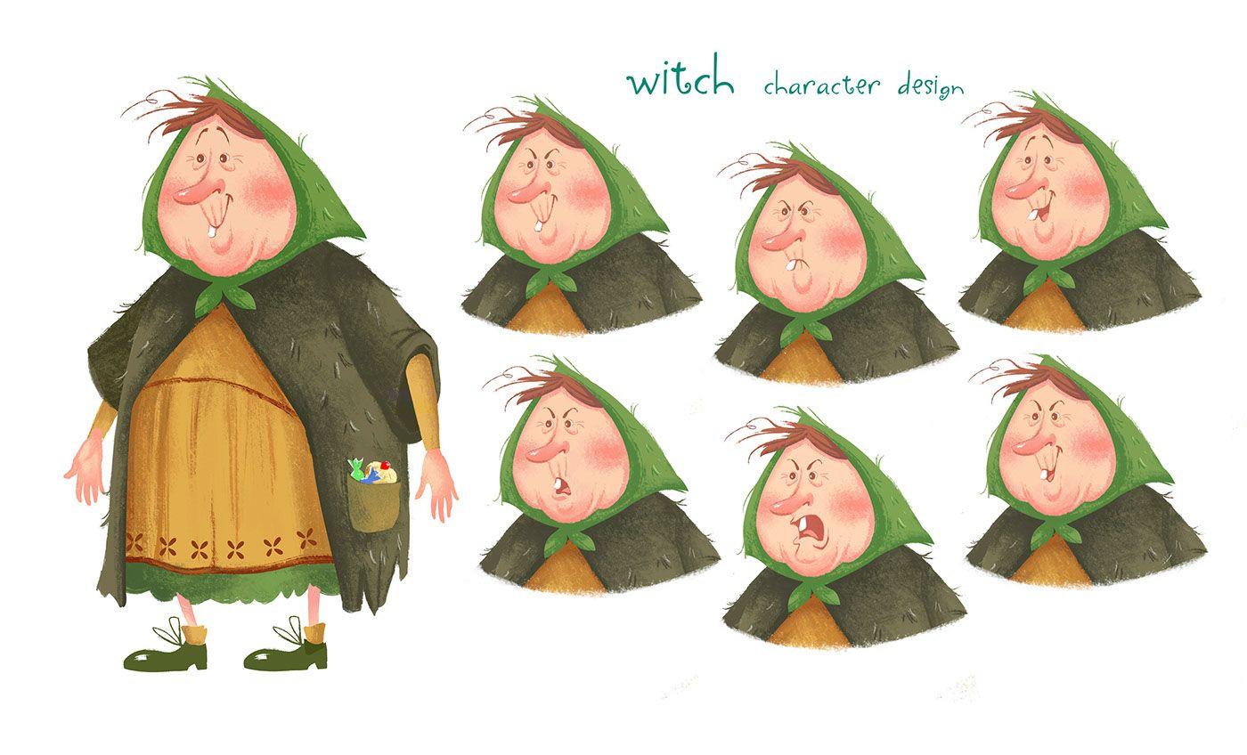 Hansel & Gretel design for app and animation on Behance