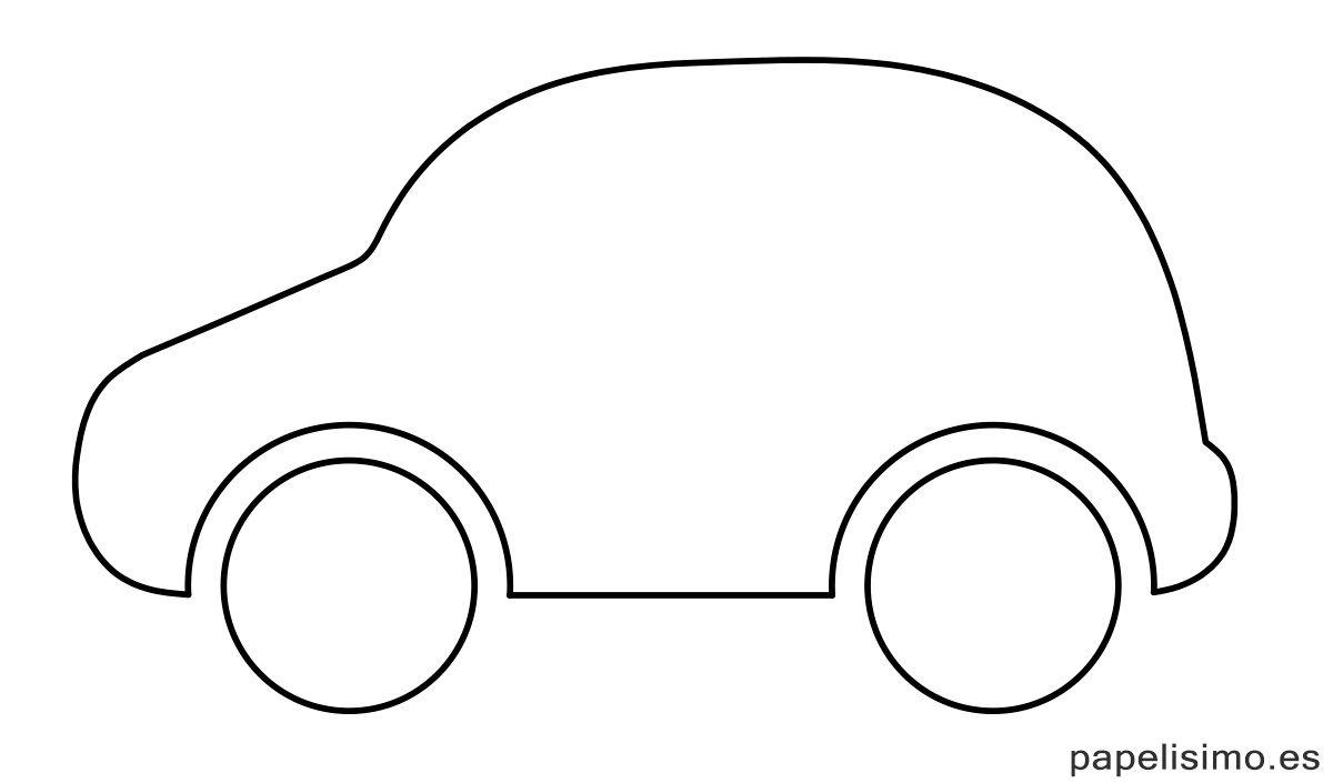 Plantilla-silueta-coche-recortar-colorear-recortar | siluetas ...