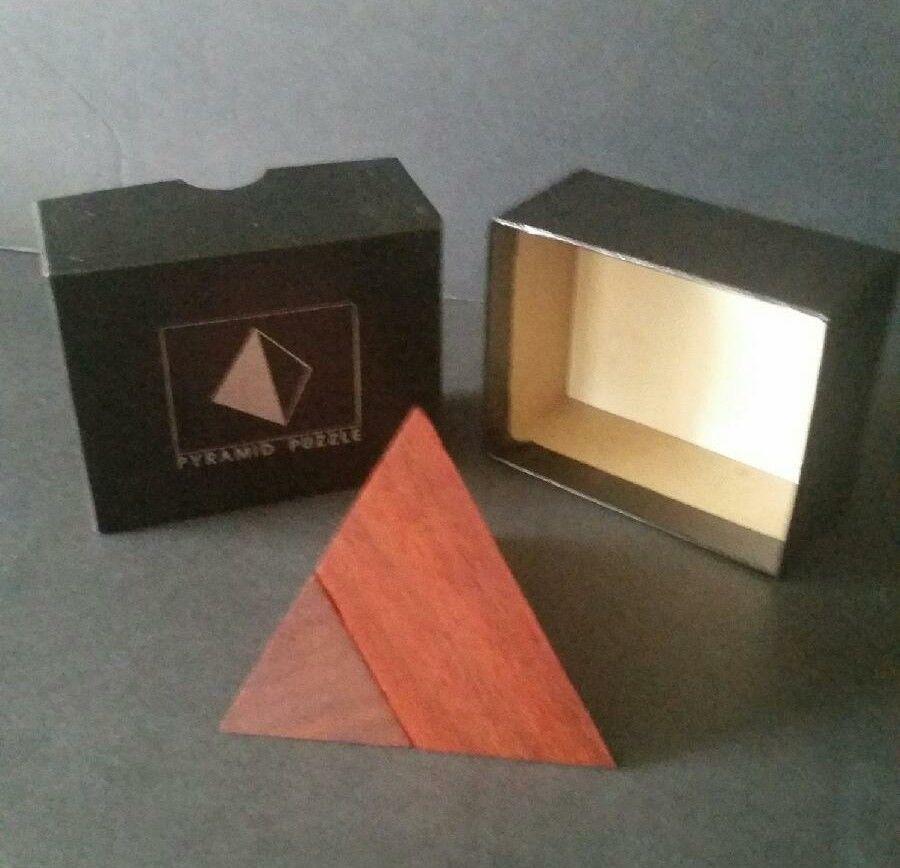 Wood 3d Pyramid Puzzle Wooden Iq Brain Teaser 2