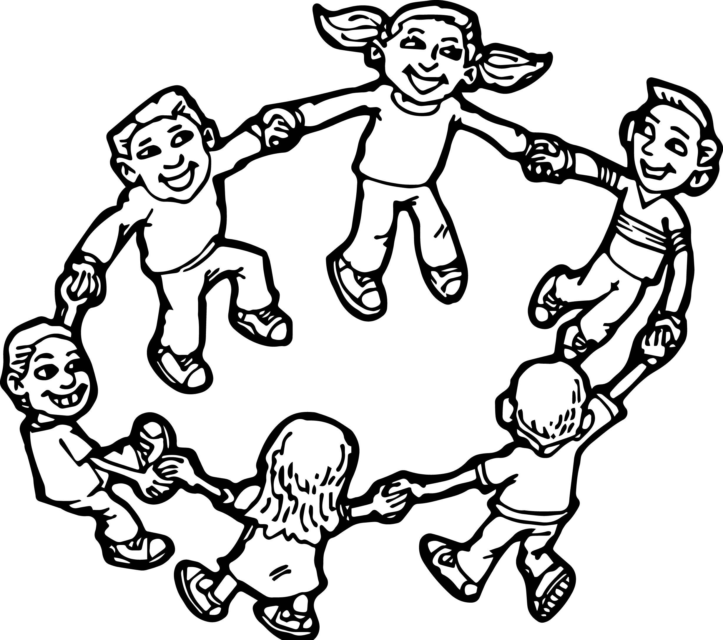 Cool Children Playing Children Coloring Page