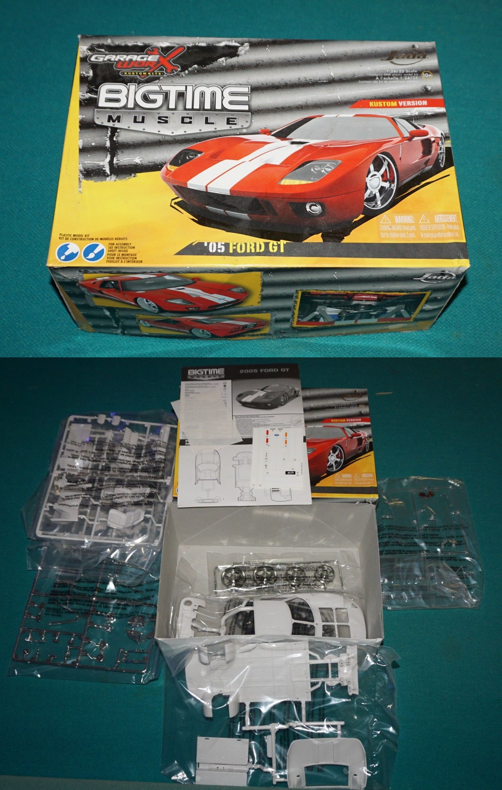 1 25 Scale 145975 2005 Ford Gt Jada Garage Worx 1 24 25 Complete And Unstarted Buy It Now Only 19 99 On Ebay Scale Garage Com Ford Gt Ford Model Kit