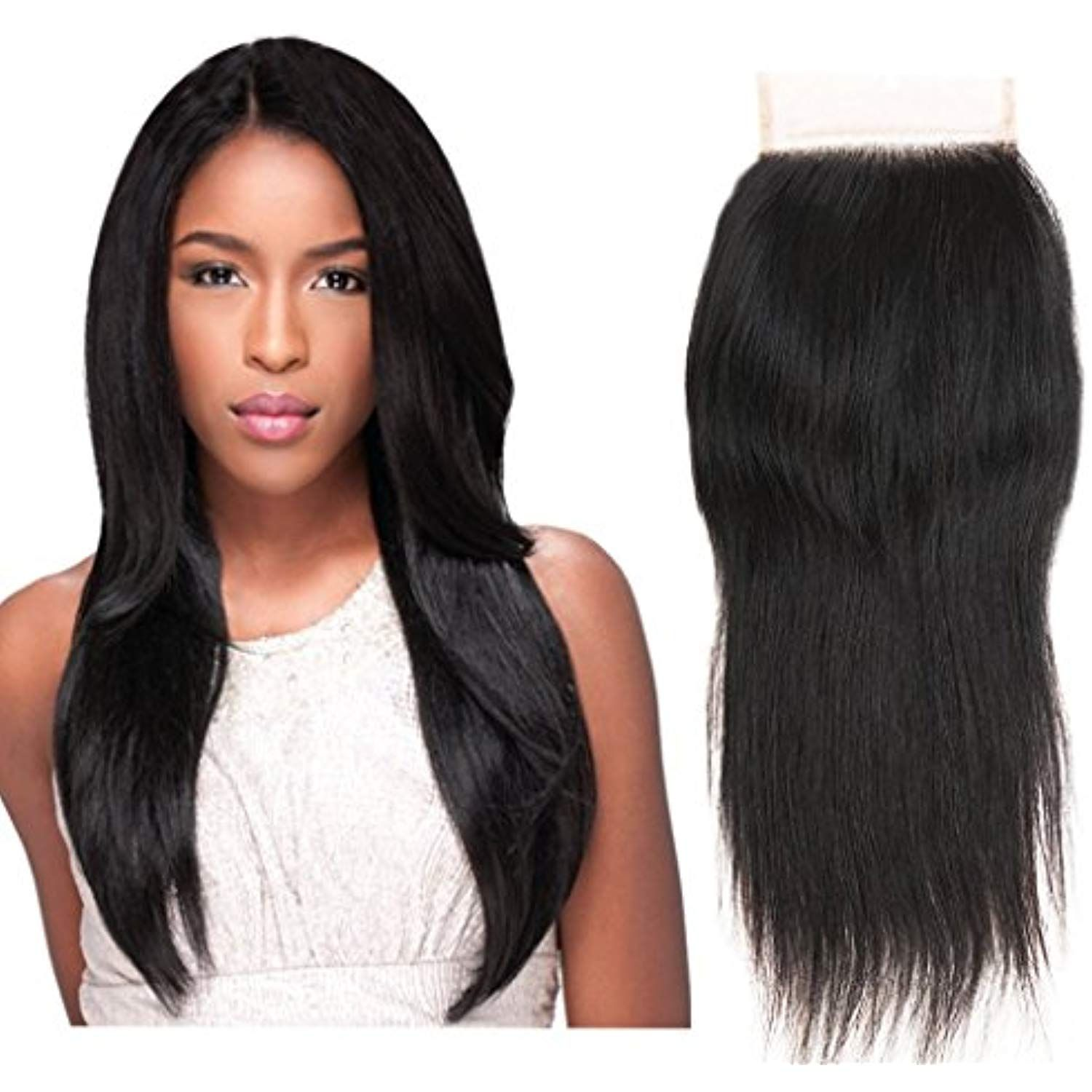 Kbeth 4x4 Closure Free Part Straight Human Hair Bleached