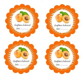 Etiquettes imprimables pour pot de confiture d 39 abricot fait maison tiquettes confiture sirop - Confiture d abricots maison ...