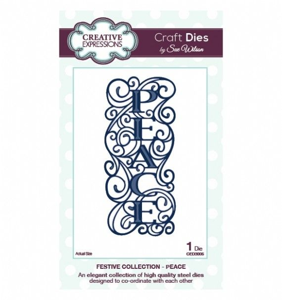 Sue Wilson Designs - Die - Festive Collection - Peace,$16.99