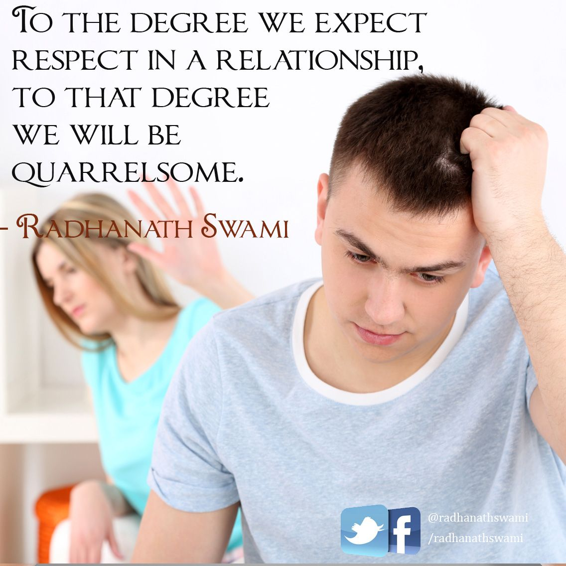 To The Degree We Expect Respect In A Relationship, To That