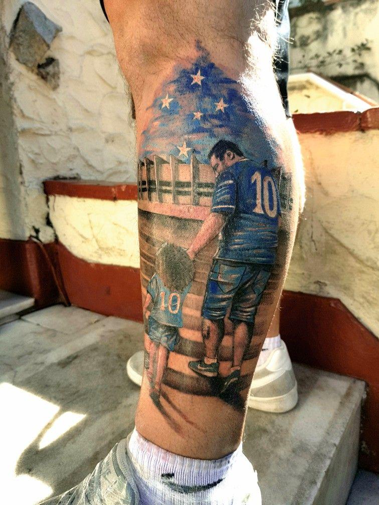 163d278f43 Tatuagem do Cruzeiro.  cruzeiro  futebol  minasgerais