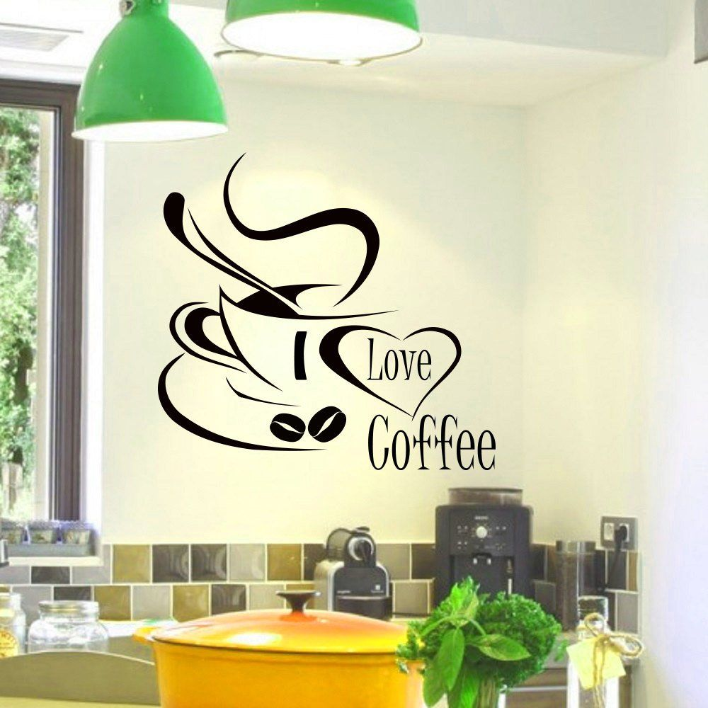 Vinyl Wall Decal Tea Cup Teacup Kitchen Pattern Decoration Stickers 534ig