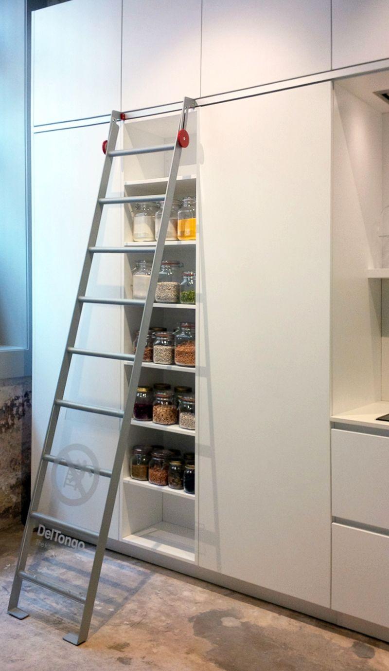 Libreria Scorrevole Fai Da Te scale scorrevoli per librerie con scalette per cucina idee