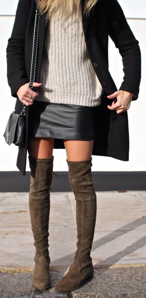 Over The Knee Boots Trend Autumn Winter 2014 Women S