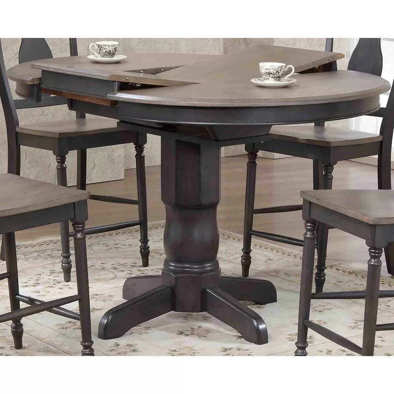 Hamisi Round Counter Height Pub Table In 2020 Dining Table In Kitchen Counter Height Pub Table Glass Round Dining Table