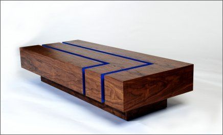Modern contemporary thoughtwood coffee table interior for Modern wood furniture