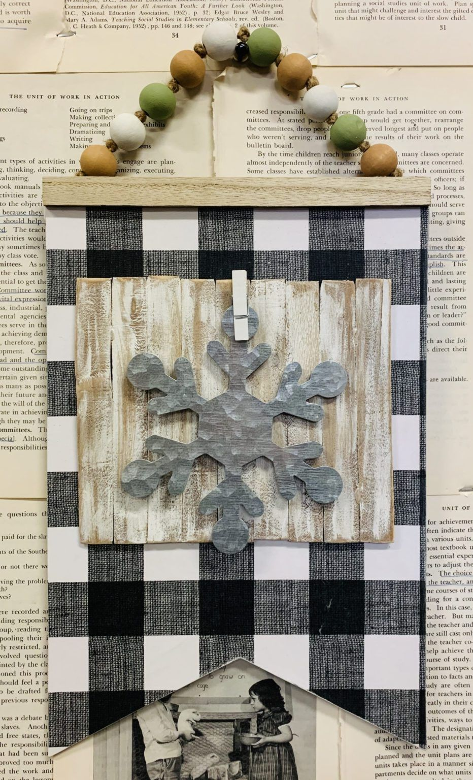 Diy dollar tree farmhouse photo hanger lizzy erin