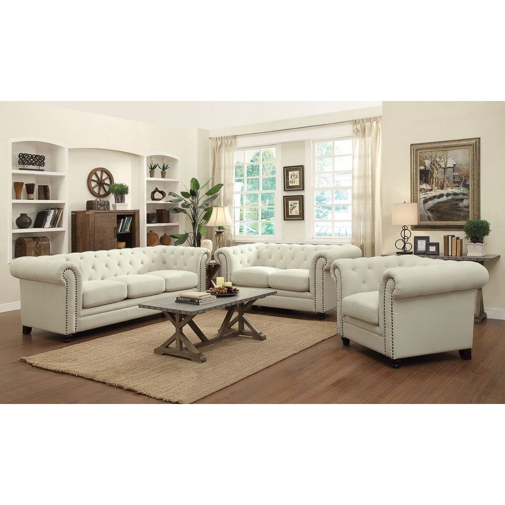 Revamp your living room decor with the Nelson Linen 3-piece Set ...