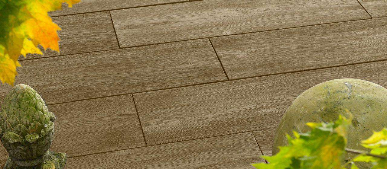 Bradstone Logplank Hellbraun Holzdiele Terrasse Pinterest Tiles