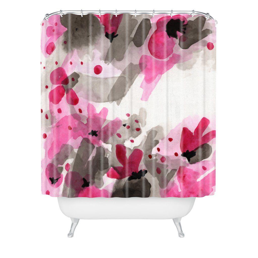 Elena Blanco Primavera Shower Curtain   DENY Designs Home Accessories