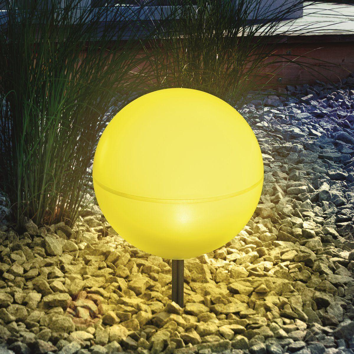 boule lumineuse solaire flexible jaune lampes. Black Bedroom Furniture Sets. Home Design Ideas