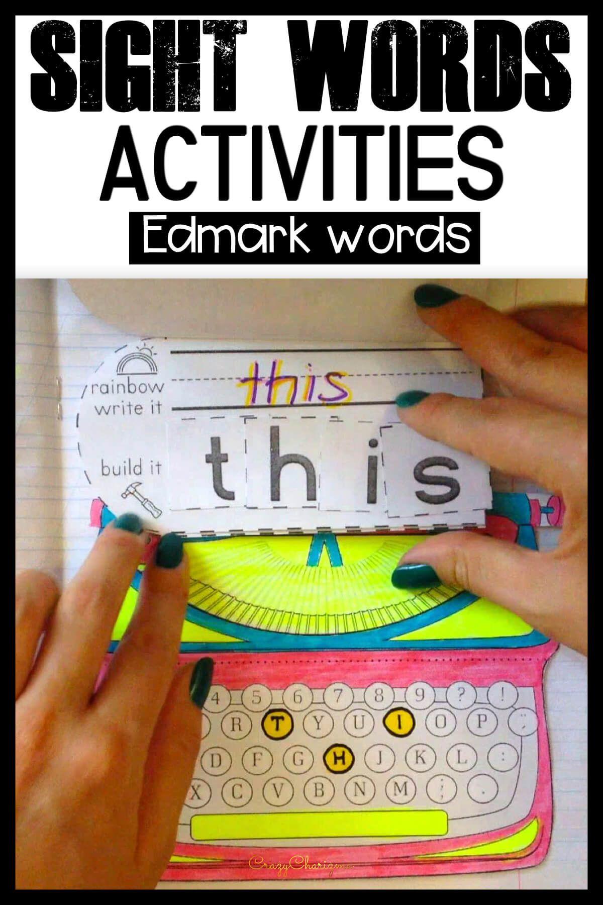 Sight Word Interactive Notebook For Kindergarten