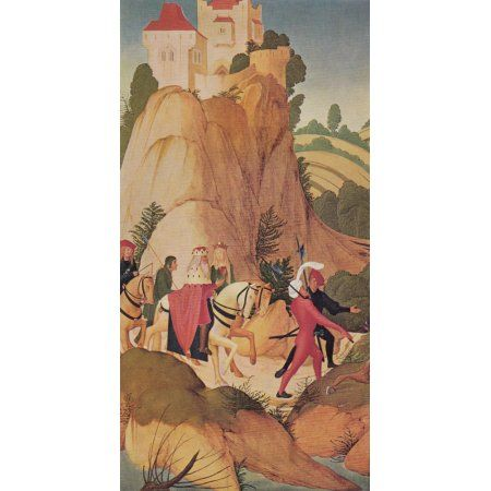 German Painting St Leopold goes hunting 1507 Canvas Art - Rueland Frueauf (18 x 24)