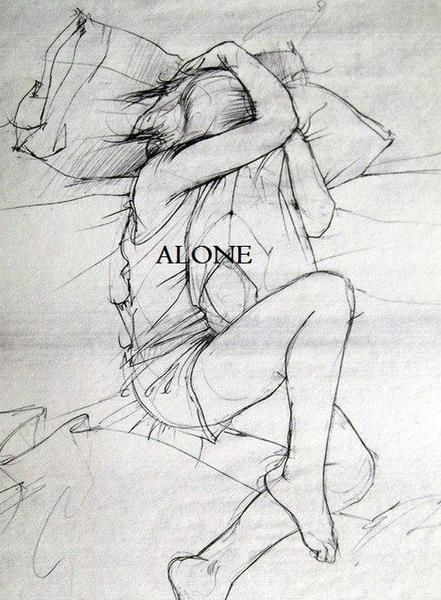 Imagem de alone art and drawing