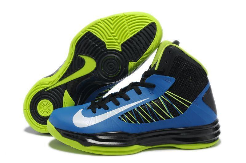 Mens Nike Lunar Hyperdunk X James Blue Black Green Shoe Fast Delivery