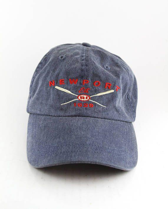 be71786f5 New Port Rhode Island Oars Dad Hat // RI Est. 1639 Baseball Cap with ...