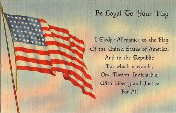 The Pledge Of Allegiance Before 1954 Patriotic Printables Fourth Of July Memorial Day