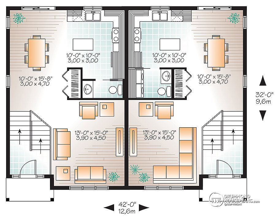 Discover The Plan 3062 Eastman Which Will Please You For Its 2 3 Bedrooms And For Its Country Styles House Plans Small House Plans One Bedroom House