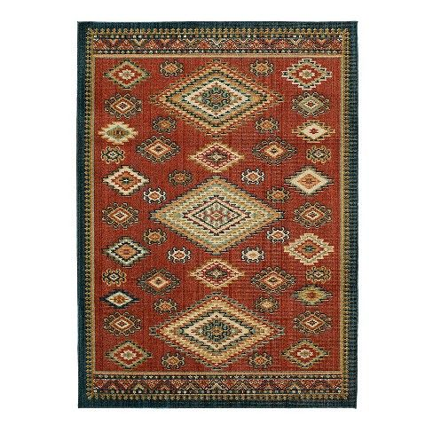 Southwest Woven Rug Navy Red Threshold Area Rugs Woven Rug Southwest Area Rugs