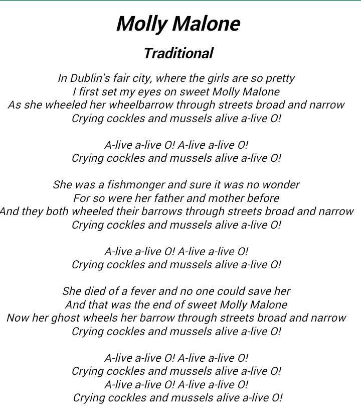 Lyric pretty girls lyrics : Molly Malone song lyrics. I can almost hear the brogue as I read ...