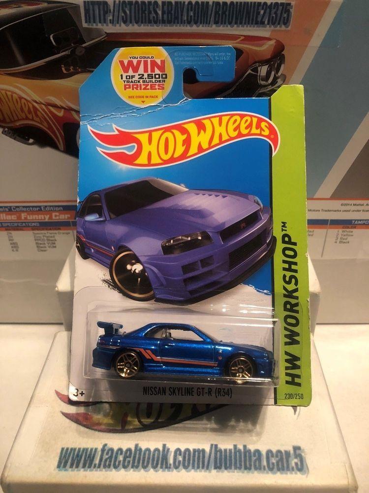 Hot Wheels Hotwheels Nissan Skyline GTR R34-1:64 1//64 diecast Nissan 2//5