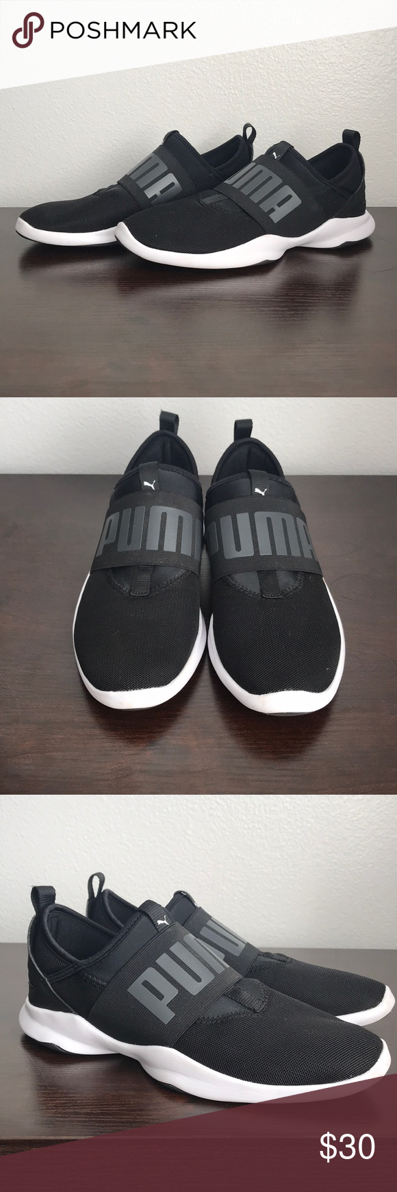 PUMA shoes Black and white puma shoes