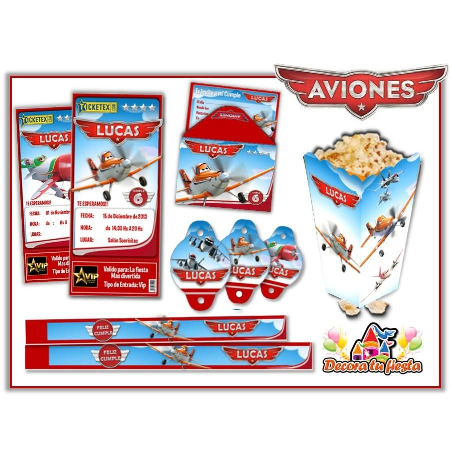 Kits Personalizados Kit Imprimible Aviones Disney Súper Candy Bar ...
