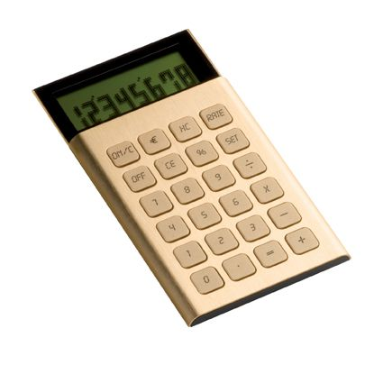 Lexon Jet Pocket Calculator In Gold Lc66 G