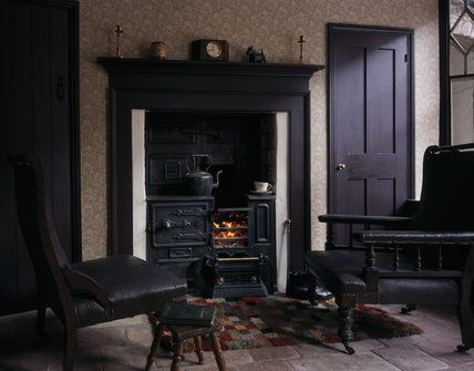 Living Room 1930s the fireside in the living room of the 1930s house showing the