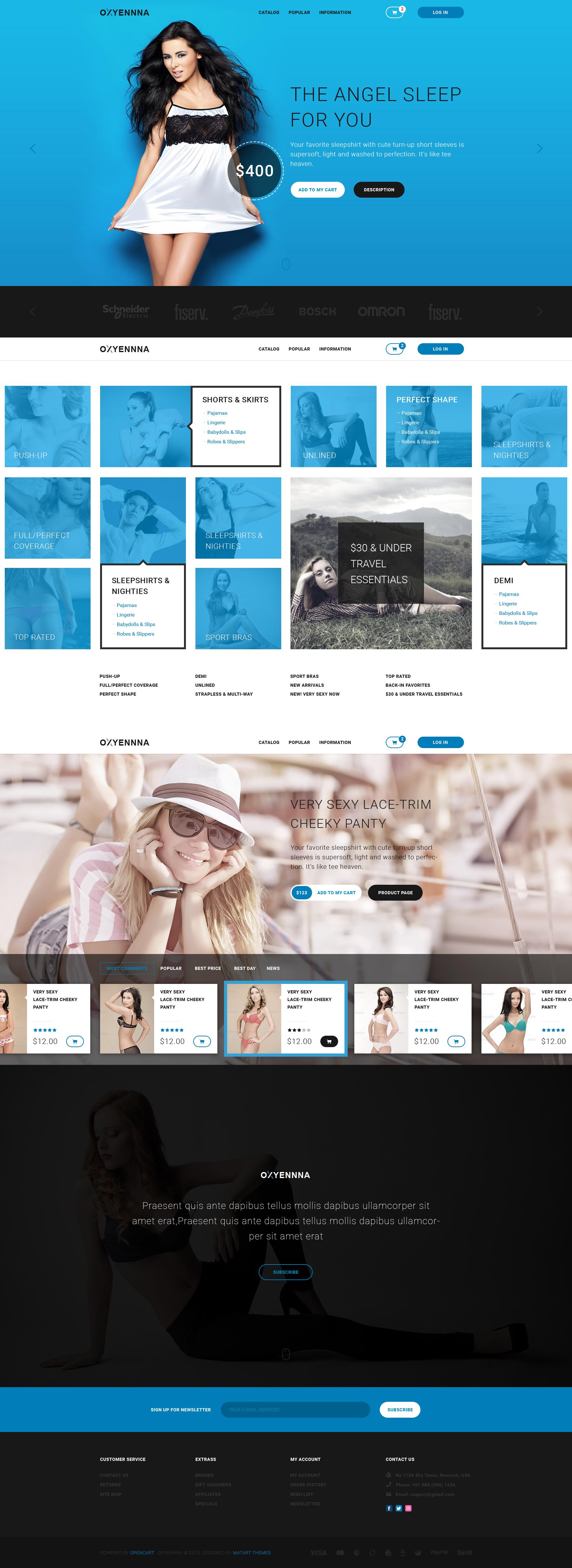 Oxena - Unique eCommerce Store HTML Template   Template site ...