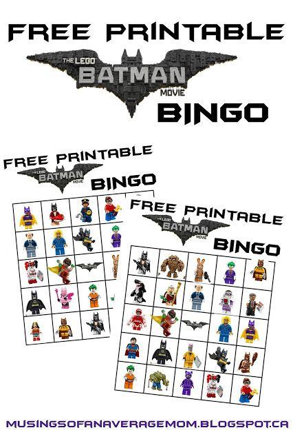 Lego Batman Bingo Parties And Entertaining Pinterest Lego
