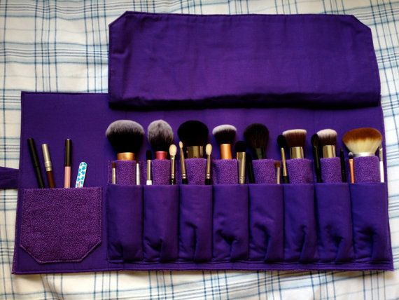 Make Up Brush Roll Holds Up To 25-30 Brushes by Ariasjn on Etsy