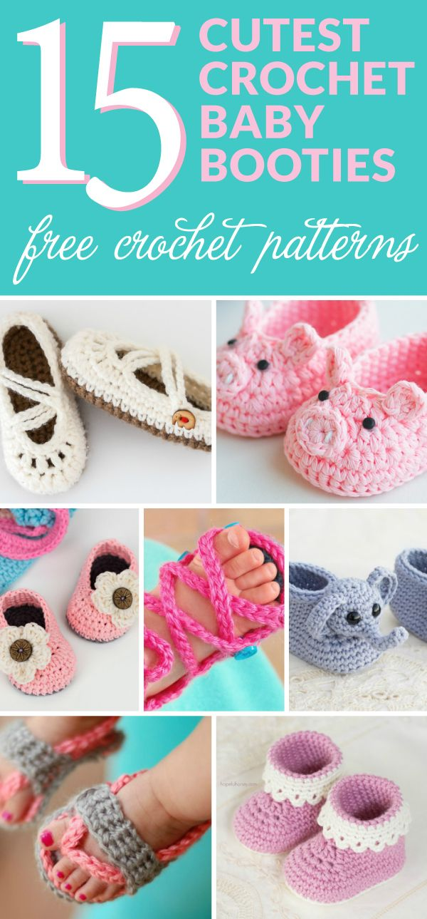 15 of the Cutest Crochet Baby Bootie Patterns | Tejido, Zapatos niño ...