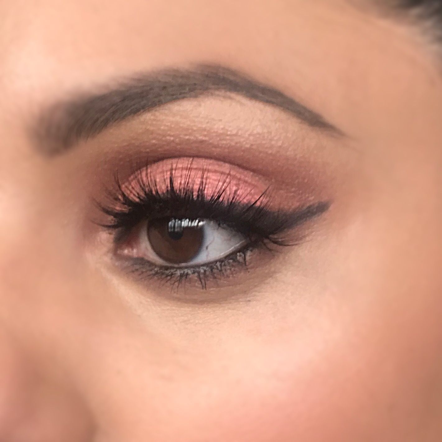 Soft Pink Eyeshadow Look wearing Doll Beauty Lashes