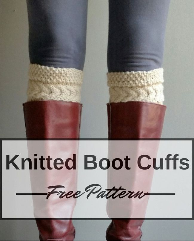 Boot Cuffs Free Knitting Pattern | Knitted boot cuffs ...