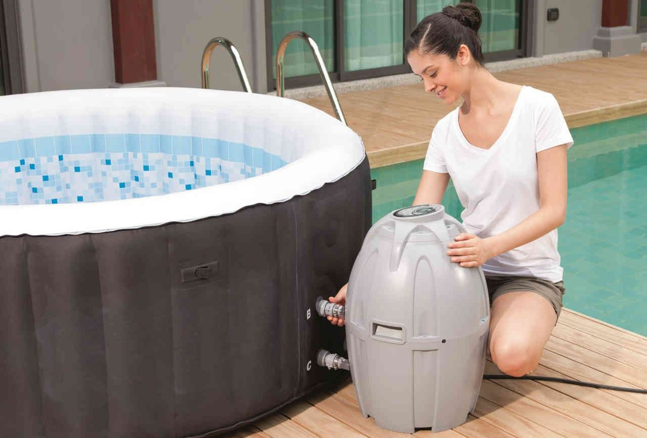 how to drain a hot tub for winter