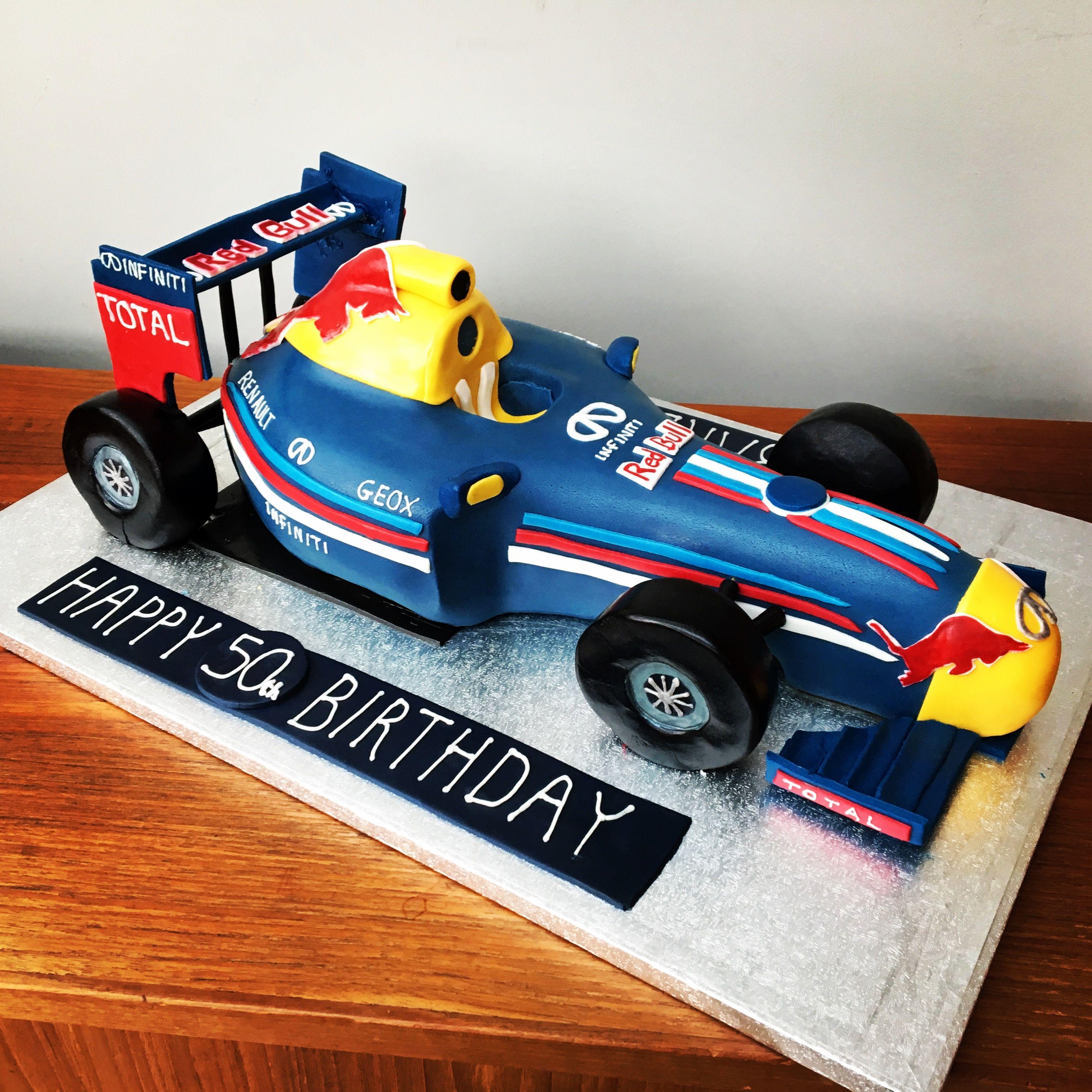 esta veinte Campeonato  Red bull formula 1 racing car birthday cake | Cars birthday cake