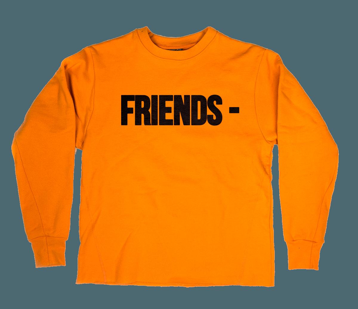 Vlone Friends Orange Crewneck SS17 Collection Now