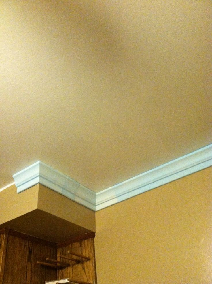 Foam Crown Moulding - It\'s so easy. Completed Job Pictures | Foam ...