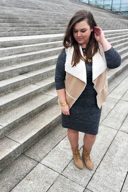 Outfit kleid grau