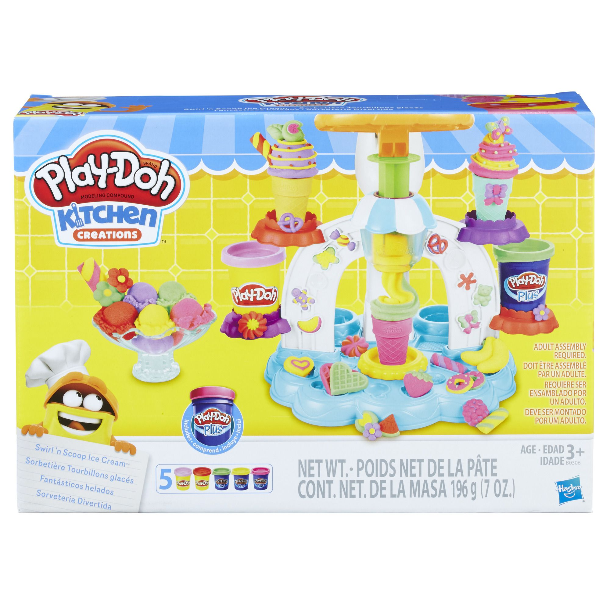 Play Doh Sweet Shoppe Swirl And Scoop Ice Cream Playset Colores