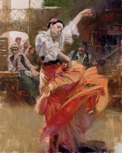 Flamenco in red
