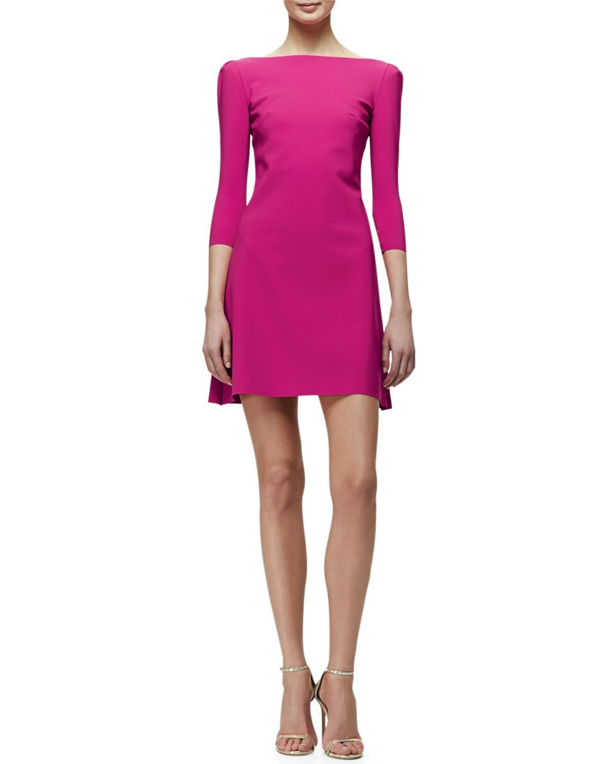 Marcelle 3/4-Sleeve Cocktail Dress, Lapone